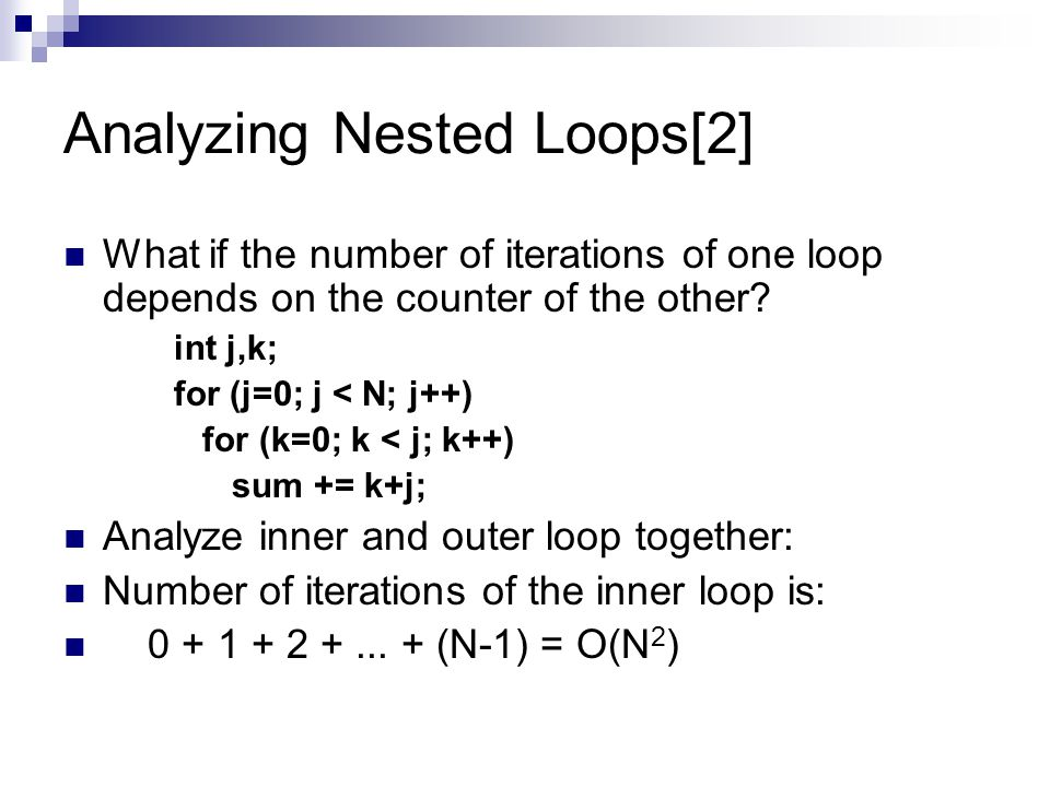 Analyzing Nested Loops[2]